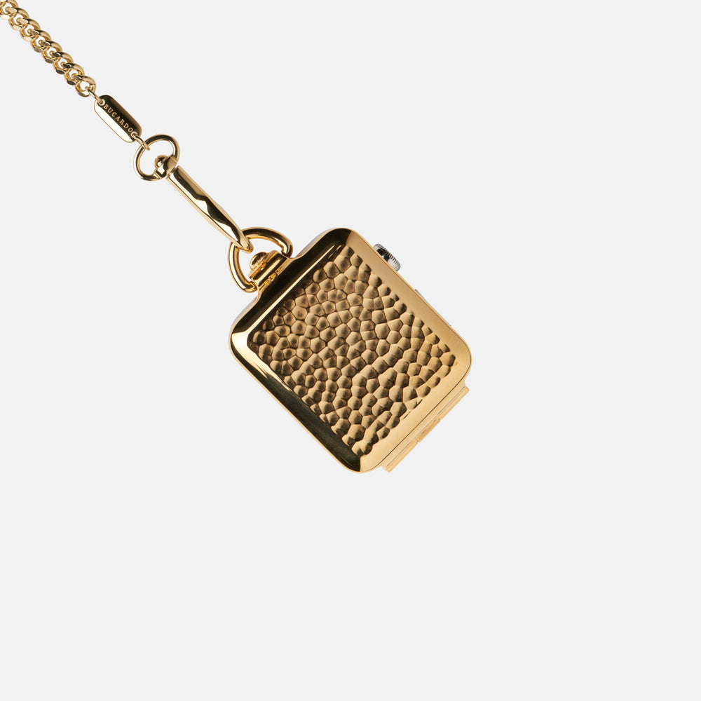 Gold Hammered Pocket Watch: 42mm/SERIES 1
