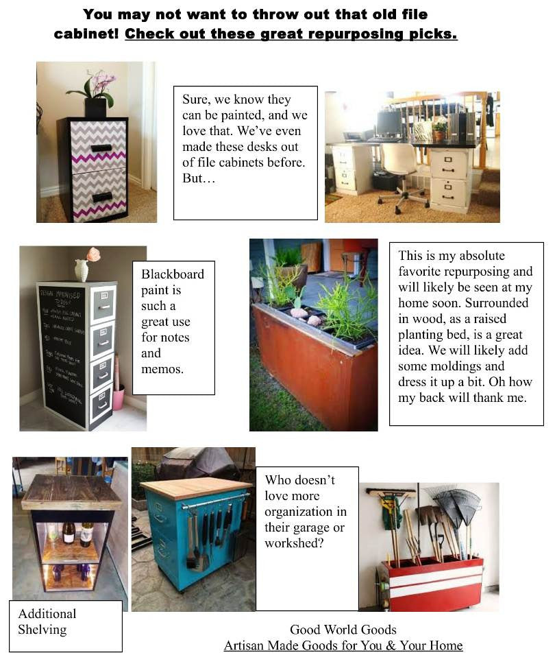 Repurpose Ideas for Old File Cabinets