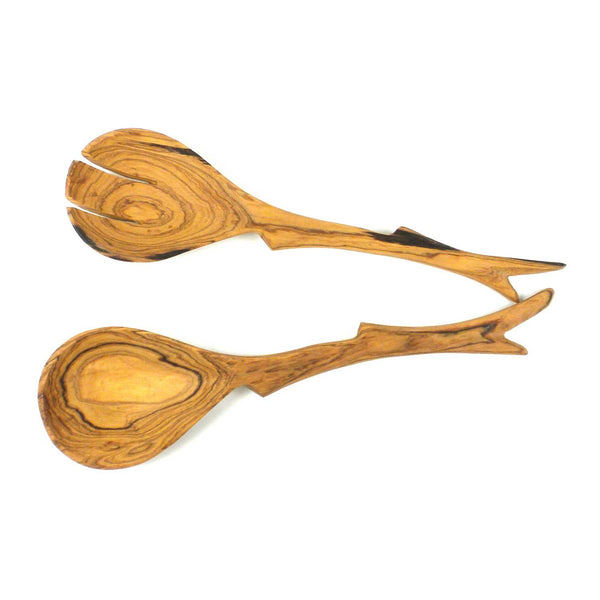 12 Inch Twig Salad Servers - Jedando Handicrafts - Good World Goods
