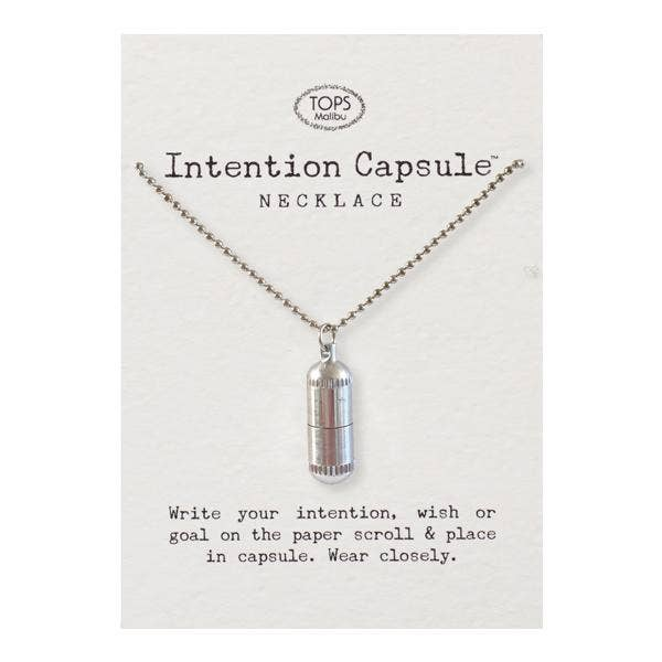 TOPS Malibu - Intention Capsule Necklace with Chain - Good World Goods