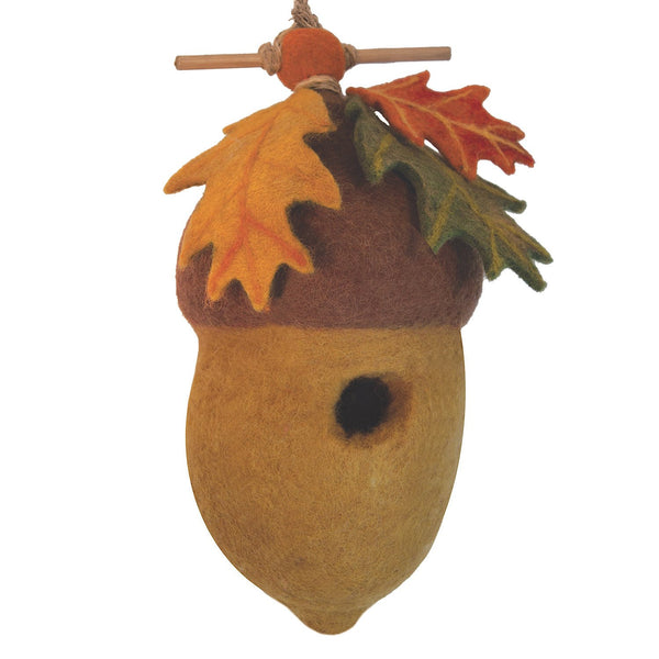 Felt Birdhouse - Pin Oak Acorn - Wild Woolies - Good World Goods