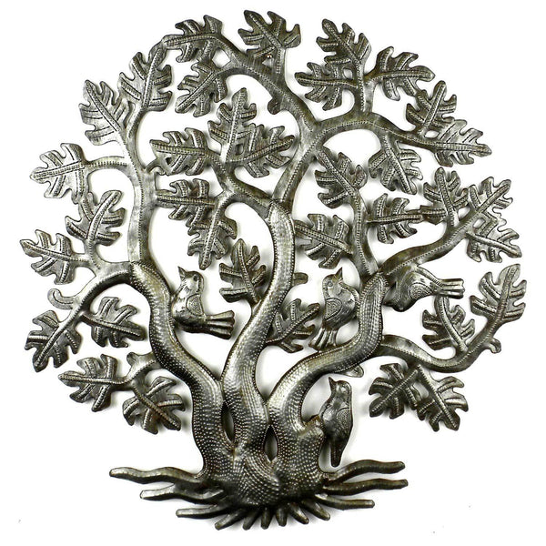 14 inch 3 Trunk Tree of Life Wall Art - Croix des Bouquets - Good World Goods