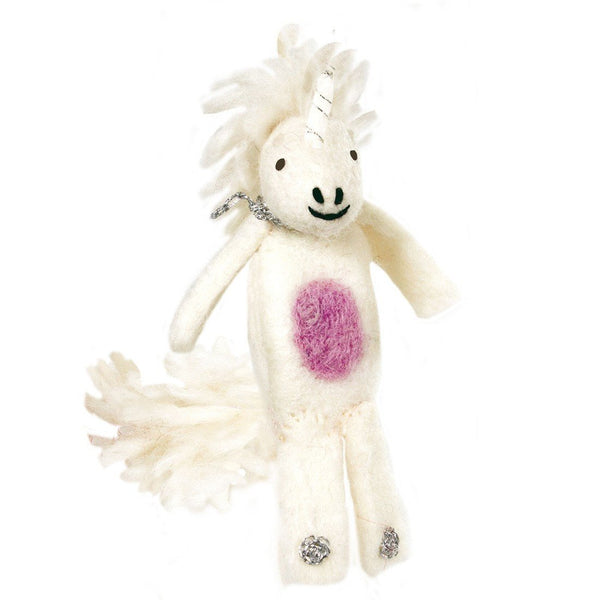 Woolie Finger Puppet - Unicorn - Wild Woolies (T) - Good World Goods