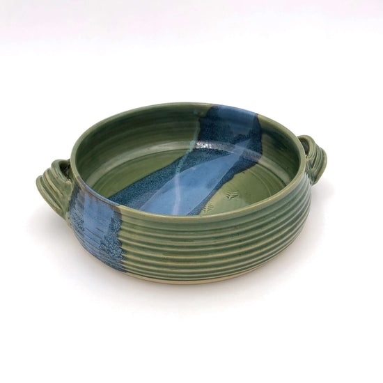 Handmade Pottery - Deep Baker - Green