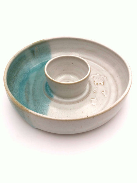 Pottery, handmade - Small Chip And Dip