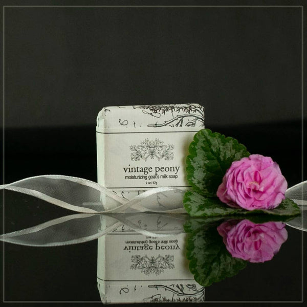 2 oz Vintage Peony Moisturizing Goat's Milk Soap - Good World Goods