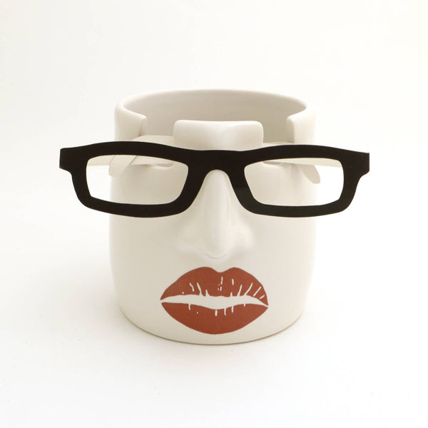 Handmade Lipstick Lips Nose Pencil and Glasses Holder - Good World Goods