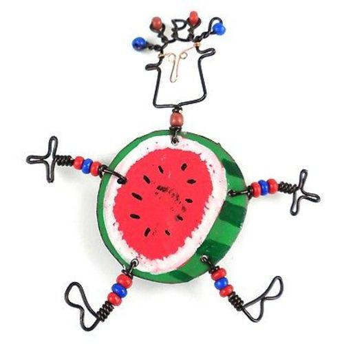Dancing Girl Round Melon Pin - Creative Alternatives - Good World Goods