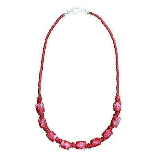 Recycled Glass Marble Necklace in Poppy - Global Mamas - Good World Goods
