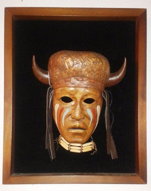 Apache Native American Mask in Frame