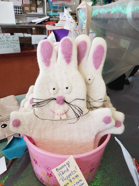 Bunny hand puppet - Good World Goods