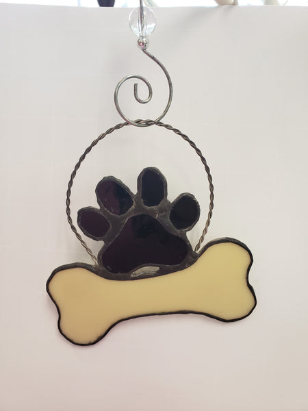 Dog Bone Stained Glass Decoration - Good World Goods