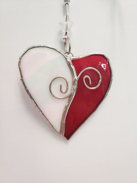 Stained Glass Heart with detail - Good World Goods