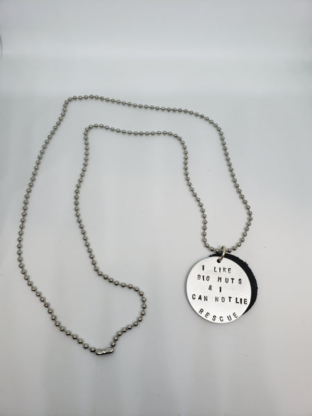 Dog Rescue Love Stamped Necklace - Good World Goods