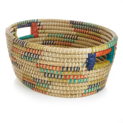 Basket with Handles - Color Wrapped - medium - Good World Goods