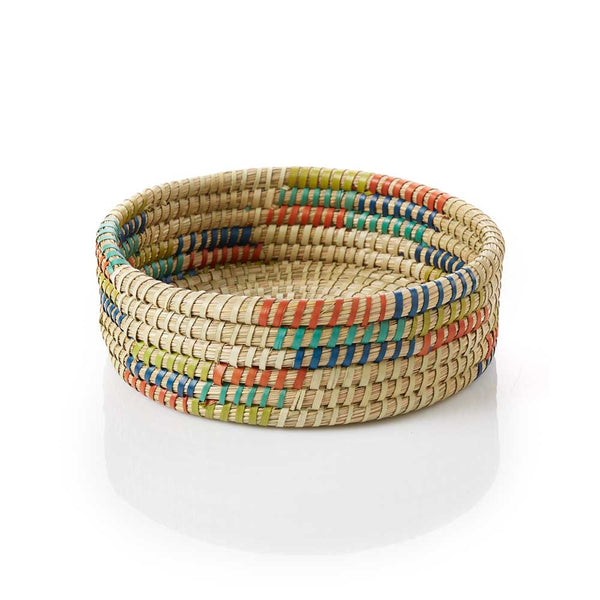 Round Kaisa Basket - wrapped in color - Good World Goods