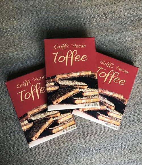 Griff's Toffee - 2 oz Griff's Pecan Toffee - Good World Goods