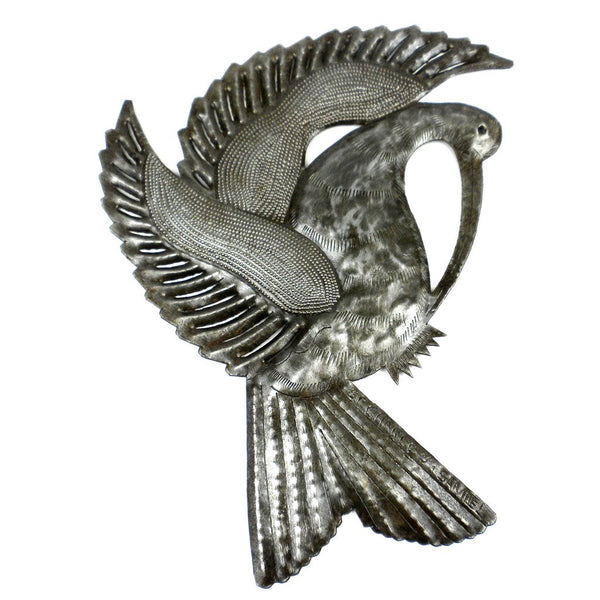 Bird with Plumage Metal Wall Art - Croix des Bouquets