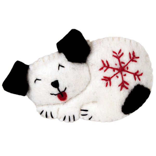 Snowflake Puppy Felt Ornament - Wild Woolies (H) - Good World Goods