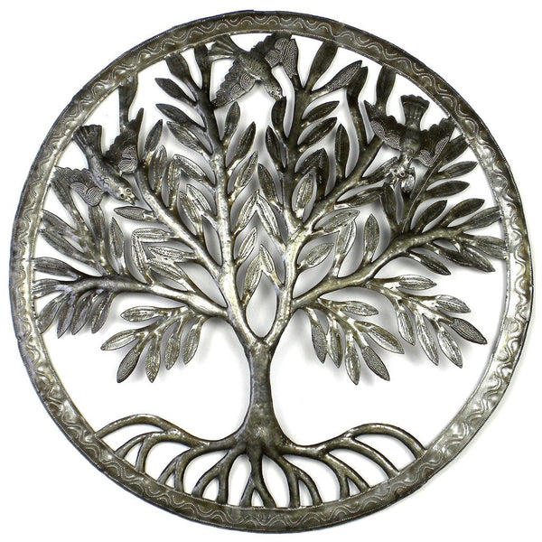 Tree of Life in Ring Wall Art - Croix des Bouquets - Good World Goods