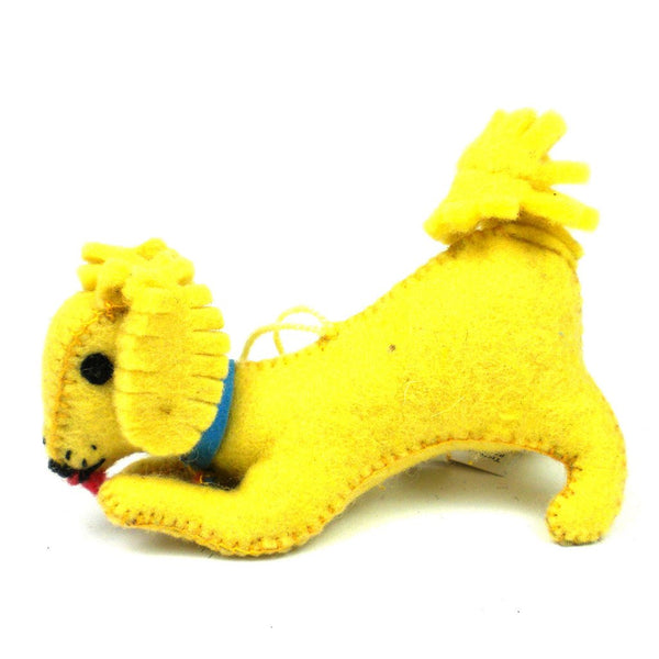 Felt Golden Retriever Ornament - Silk Road Bazaar (O)