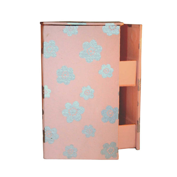 Swivel Jewelry Box - Cherry Blossom Design - Sustainable Threads (J) - Good World Goods