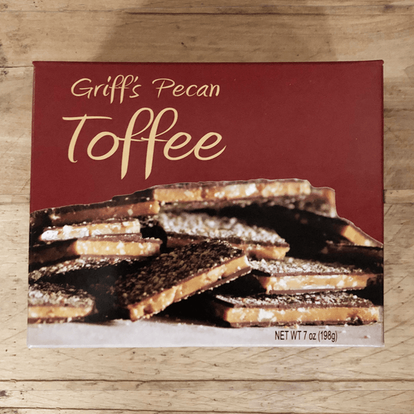 Griff's Toffee - 7 oz Griff's Pecan Toffee - Good World Goods
