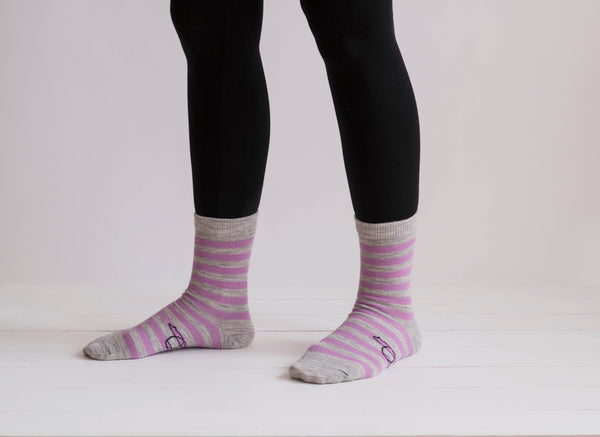 Echoview Fiber Mill - Alpaca Striped Socks - Good World Goods