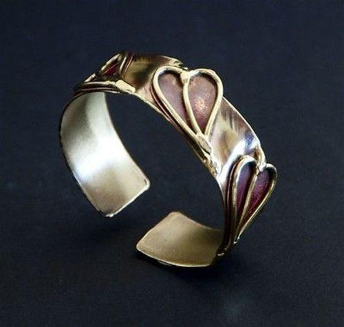 Three Hearts Cuff - Brass Images (C) - Good World Goods