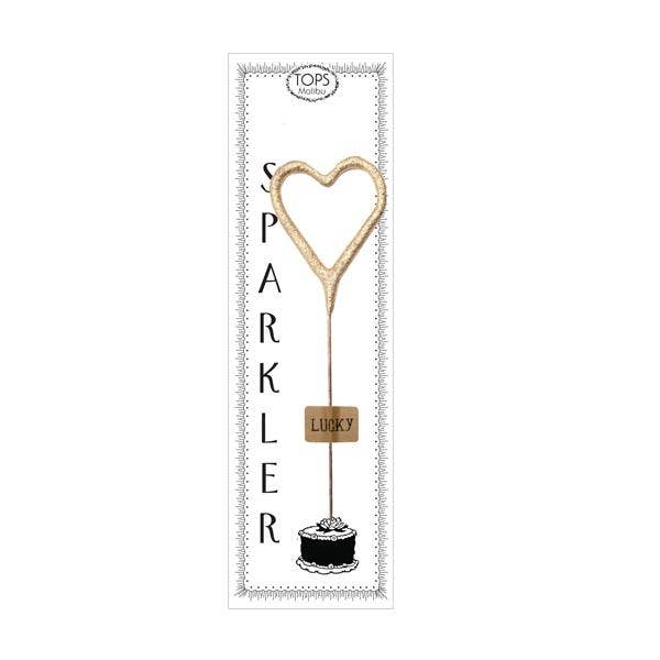 "Mini Gold Heart Sparkler 4"" - Good World Goods"