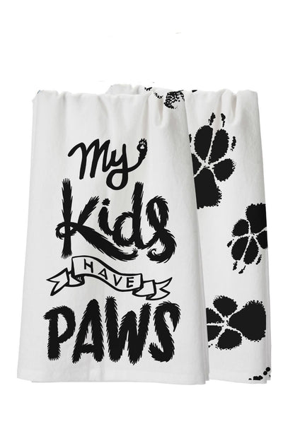 "Dish Towel ""My Kids Have Paws"" - Good World Goods"