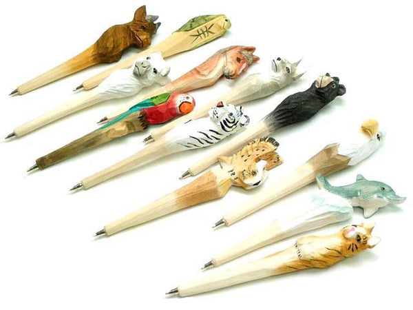 Carved Animal Pens - Good World Goods