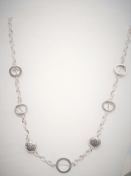 Circle linked Lotus Necklace - Good World Goods