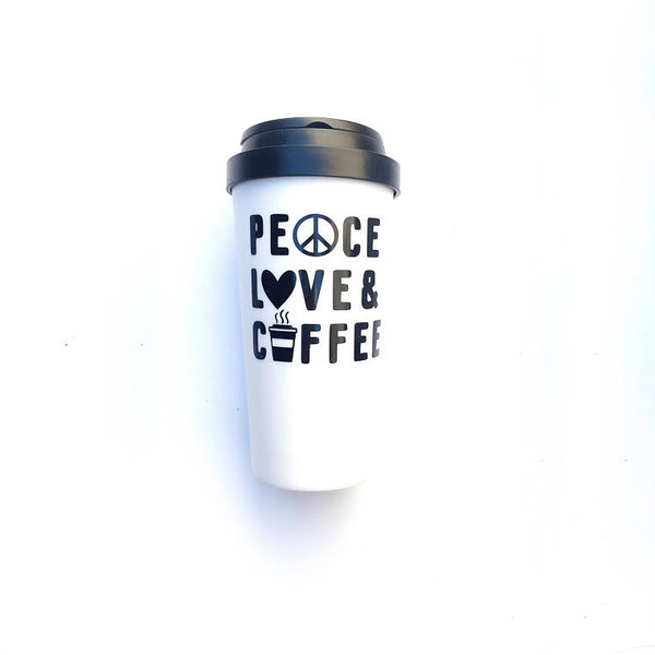 The Golden Type - Peace love and coffee mug - Good World Goods
