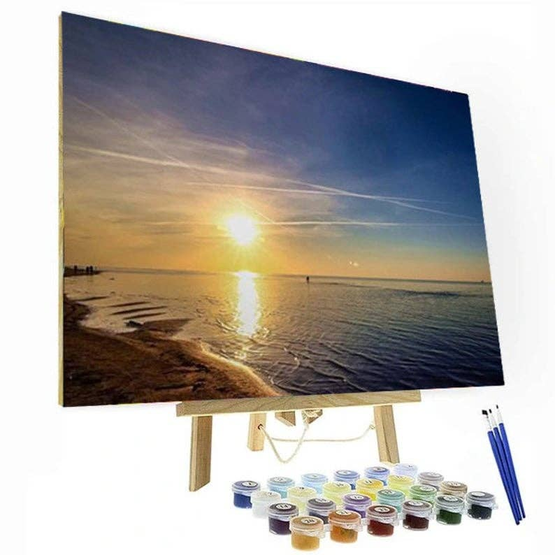 Paint By Number Kit - Setting Sun