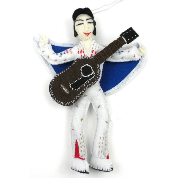 Elvis Presley Felt Ornament - Silk Road Bazaar (O) - Good World Goods