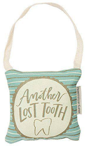 Lost Tooth Fairy Pillow with Pocket - blue