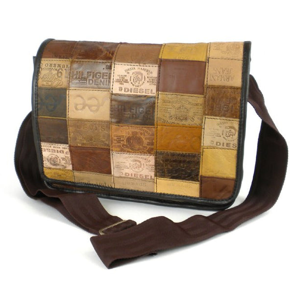 Leather Messenger Bag - Labels