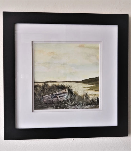 Marsh Skiff Painting - Original Art - Good World Goods
