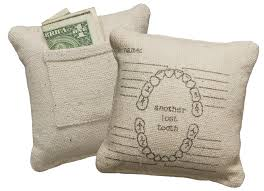 Lost Tooth Fairy Pillow with Pocket - natural