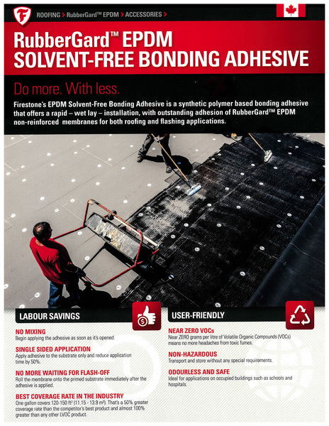 RubberGard EPDM Solvent-Free Bonding Adhesive Sell Sheet