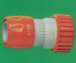 4456 Quick Connector w/ Stop & hose grip 3/4""