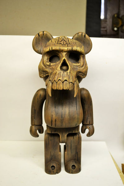 2539ab71 Phantom Wood Spirit 9-inch Tiki Bearbrick custom by NEMO In Stock Now