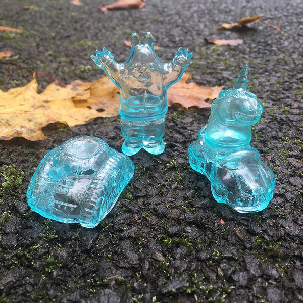 Rainy Day Blue Micro Sofubi 3-piece set by Rampage Toys