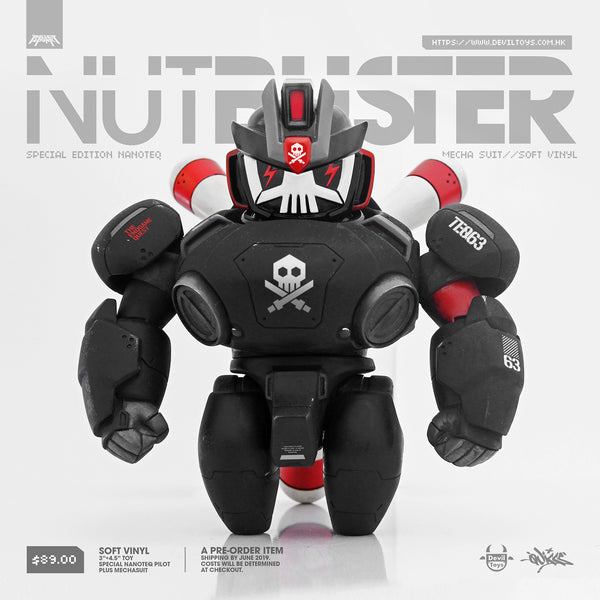 Quiccs NanoTEQ NUTBUSTER 6-inch vinyl figure by Devil Toys SOLD OUT