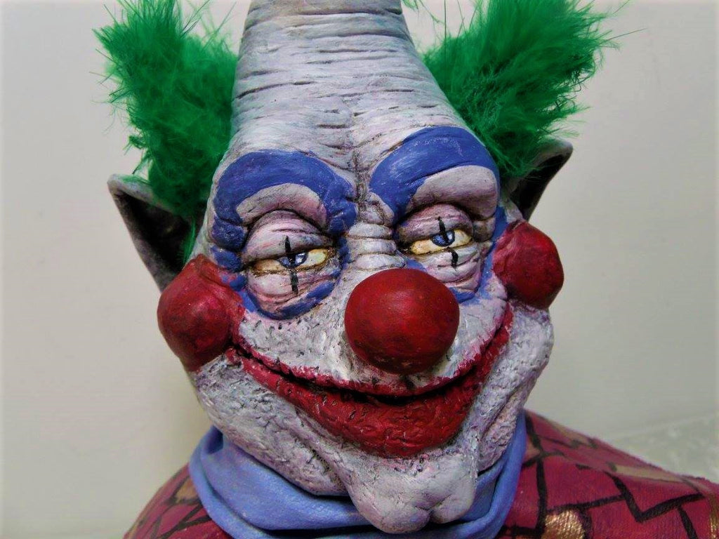 "Killer Klowns Jumbo 9.5"" Hand Painted & Detailed Resin Bust Heiden Productions Resin Tenacious Toys®"