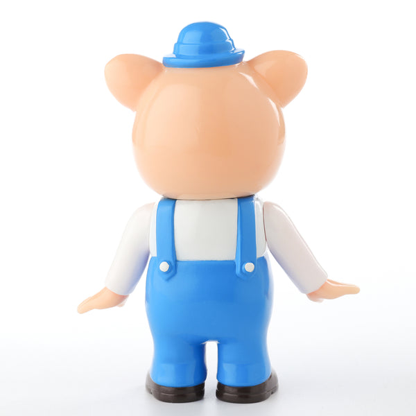 Pointless Island 3 Little Pigs Blue 3.7-inch vinyl figure by Awesome Toys