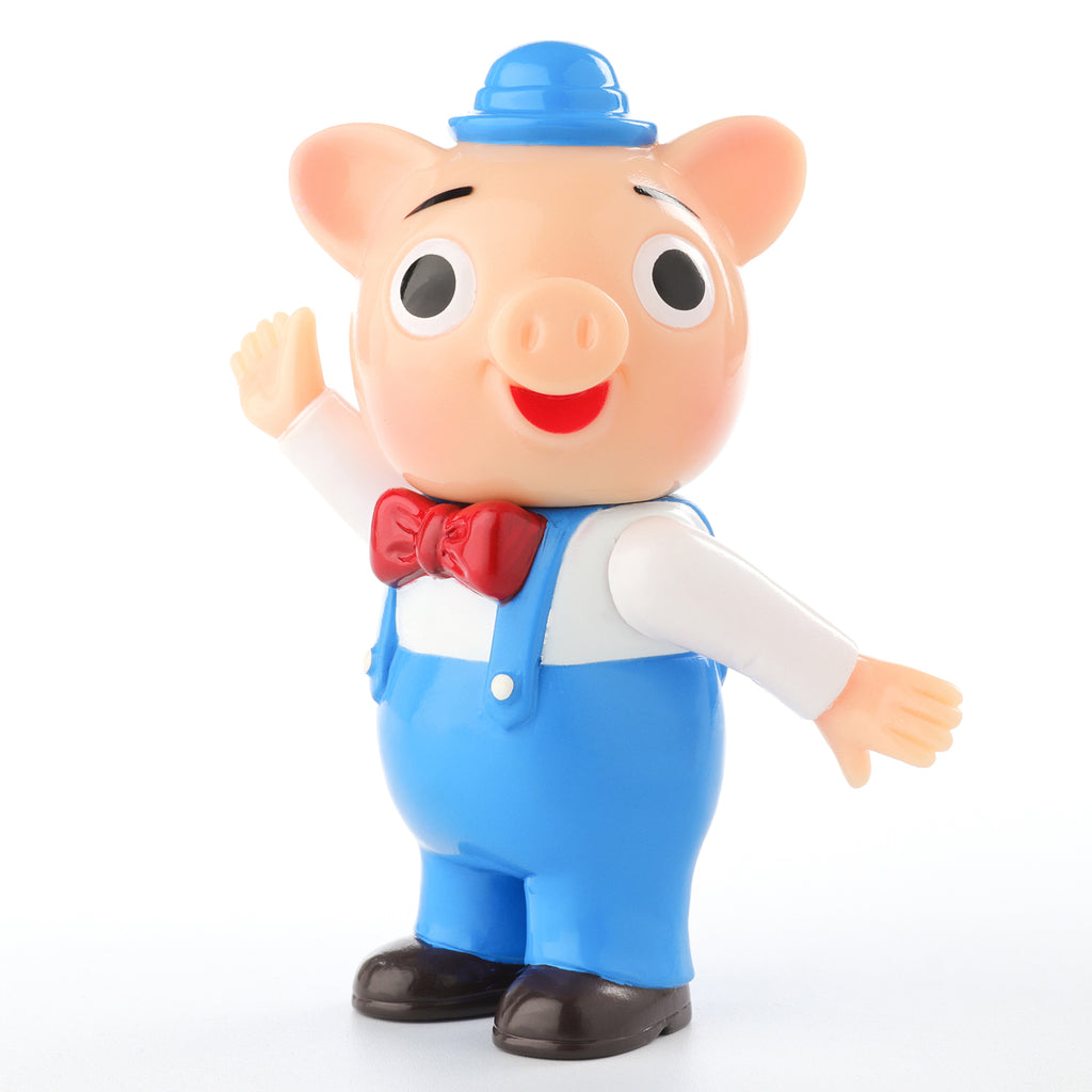 Pointless Island 3 Little Pigs Blue 3.7-inch vinyl figure by Awesome Toys Pointless Island Vinyl Art Toy Tenacious Toys®