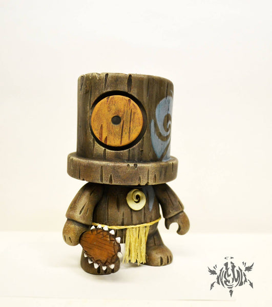 Americanesian Warrior 5-inch SprayeeQ Mini Qee Custom  by NEMO Toy2R Custom Tenacious Toys®