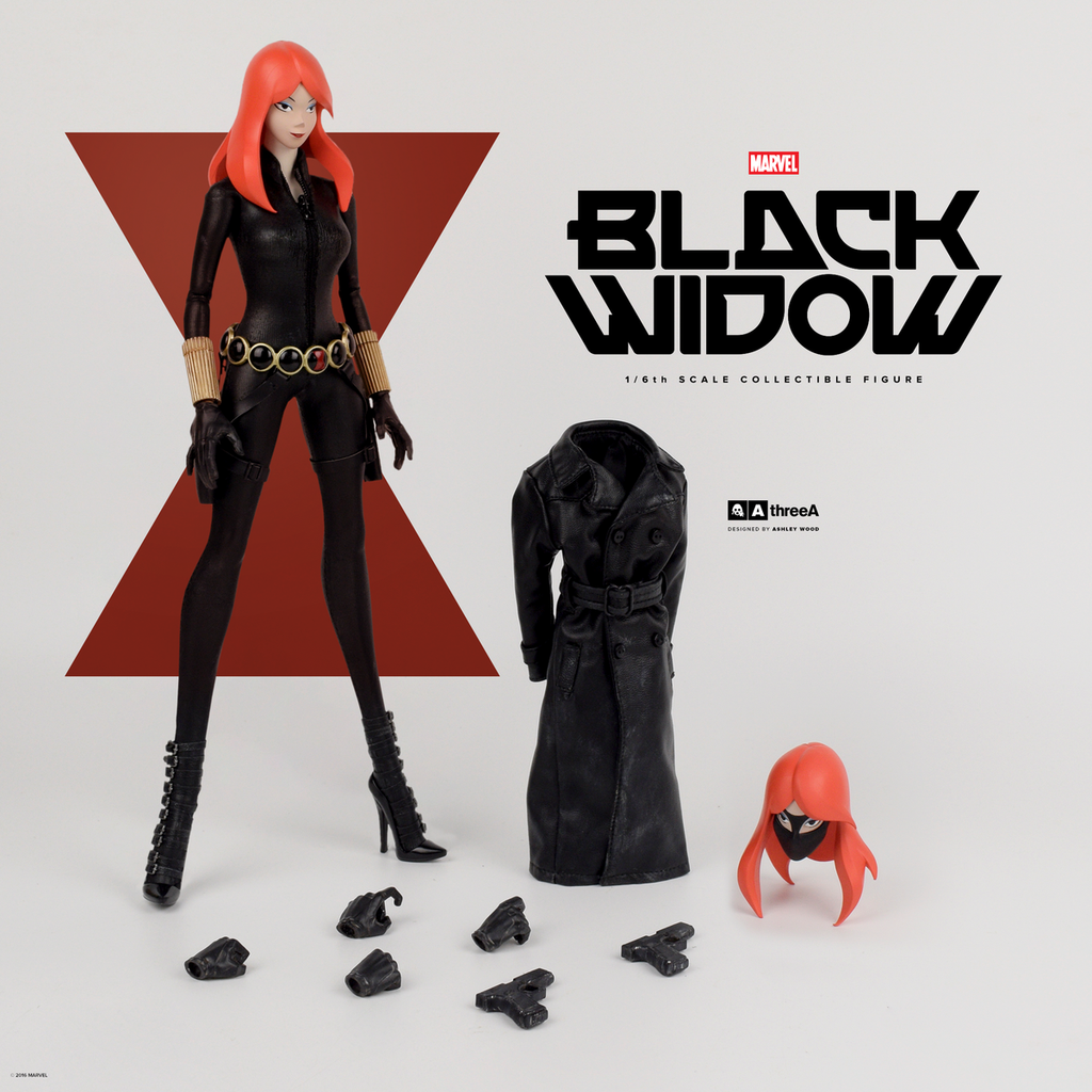 Marvel x ThreeA BLACK WIDOW 1/6th Scale Collectible Figure Designed by Ashley Wood PREORDER - Tenacious Toys® - 1